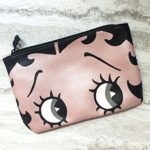 Betty Boop x ipsy Sequined Cosmetic Bag Black Pink